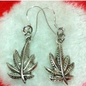 Apple Leaf 925 Stamped Sterling Silver Earrings